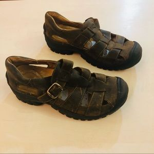 KEEN Brown Leather Outdoor Hiking Sandals SZ 7.